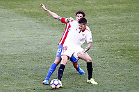 Atletico de Madrid's Stefan Savic (l) and Sevilla FC's Stevan Jovetic during La Liga match. March 19,2017. (ALTERPHOTOS/Acero) /NORTEPHOTO.COM