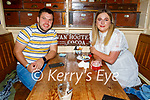 Enjoying the evening in Reidy's in Killarney on Saturday, l to r: Kenneth O'Callaghan and Helen Doyle from Faha, Killarney.