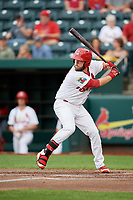 Springfield Cardinals first baseman Casey Grayson (38) at bat during a game against the Corpus Christi Hooks on May 31, 2017 at Hammons Field in Springfield, Missouri.  Springfield defeated Corpus Christi 5-4.  (Mike Janes/Four Seam Images)