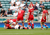 10th July 2021; Twickenham, London, England; International Rugby Union England versus Canada; Canada scores against a very strong English defence