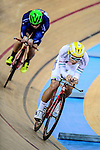 Lau Wan Hei Victor of team X SPEED (r) during the Indiviual Pursuit Open Qualifying (4KM) Track Cycling Race 2016-17 Series 3 at the Hong Kong Velodrome on February 4, 2017 in Hong Kong, China. Photo by Marcio Rodrigo Machado / Power Sport Images