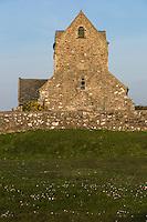 Europe/France/Normandie/Basse-Normandie/50/Manche/ Jobourg: L'église romane du XIe siècle // France, Manche, Cotentin, La Hague, Jobourg: the church