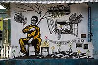 "Yogyakarta, Java, Indonesia. Pro-environment Wall Mural.  ""Remember our Grandchildren."""
