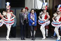 PAS DE WEB, PAS DE TABLOIDS - MONACO, CHAPITEAU DE FONTVIELLE - 17 JANVIER 2017<br /> Par un froid glacial, la Princesse StÈphanie de Monaco et sa fille Pauline Ducruet ont lancÈ le 41Ëme FESTIVAL INTERNATIONAL DE CIRQUE DE MONTE CARLO en prÈsence d'artistes et des otaries de l'Allemand Erwin Frankello