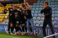28th August 2021; Weston Homes Stadium, Peterborough, Cambridgeshire, England; EFL Championship football, Peterborough United versus West Bromwich Albion; West Bromwich Albion players celebrate their winning goal after 95 minutes (0-1)