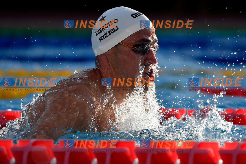 Fabio Scozzoli of Italy reacts after competing in the men 100m breaststroke during the 58th Sette Colli Trophy International Swimming Championships at Foro Italico in Rome, June 25th, 2021. Fabio Scozzoli placed 7th.<br /> Photo Andrea Staccioli/Insidefoto/Deepbluemedia