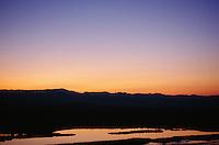 Saratoga Spring at dusk, Death Valley National Park, California