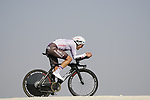 Lawrence Warbasse (USA) AG2R Citroen Team during Stage 2 of the 2021 UAE Tour an individual time trial running 13km around  Al Hudayriyat Island, Abu Dhabi, UAE. 22nd February 2021.  <br /> Picture: Eoin Clarke | Cyclefile<br /> <br /> All photos usage must carry mandatory copyright credit (© Cyclefile | Eoin Clarke)