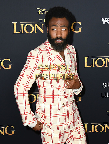 """09 July 2019 - Hollywood, California - Donald Glover. Disney's """"The Lion King"""" Los Angeles Premiere held at Dolby Theatre. <br /> CAP/ADM/BT<br /> ©BT/ADM/Capital Pictures"""