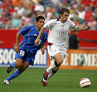 Gilberto Murgas, left, Bobby Convey, right, World Cup qualifier between USA and El Salvador, 2004.