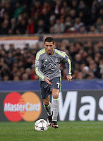 Calcio, andata degli ottavi di finale di Champions League: Roma vs Real Madrid. Roma, stadio Olimpico, 17 febbraio 2016.<br /> Real Madrid's Cristiano Ronaldo in action during the first leg round of 16 Champions League football match between Roma and Real Madrid, at Rome's Olympic stadium, 17 February 2016.<br /> UPDATE IMAGES PRESS/Isabella Bonotto
