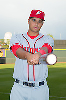 Drew Ward (17) of the Potomac Nationals poses for a photo prior to the game against the Winston-Salem Dash at BB&T Ballpark on April 30, 2015 in Winston-Salem, North Carolina.  The Nationals defeated the Dash 5-4..  (Brian Westerholt/Four Seam Images)
