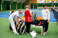 20131201,Netherlands, Almere,  National Tennis Center, Tennis, Winter Youth Circuit, warming up  <br /> Photo: Henk Koster