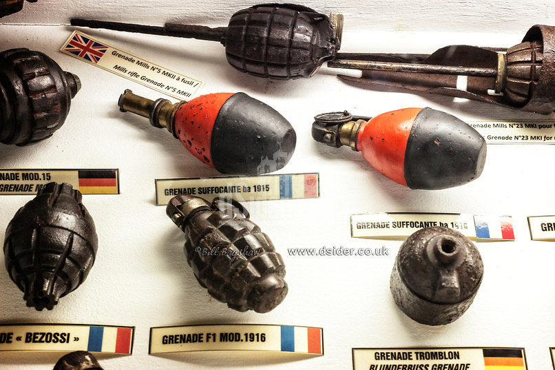 First World War Grenades and WWI gas grenades