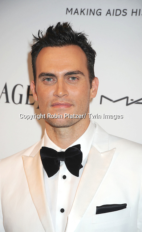 Cheyenne Jackson attends the amfAR Inspiration Gala on June 7, 2012 at The New YOrk Public Library in New York City. The honorees were Fergie and Robert Duffy/ Marc Jacobhs International and the Scissor Sisters performed.