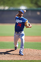 Los Angeles Dodgers pitcher Chandler Eden (74) during an Instructional League game against the Cleveland Indians on October 10, 2016 at the Camelback Ranch Complex in Glendale, Arizona.  (Mike Janes/Four Seam Images)