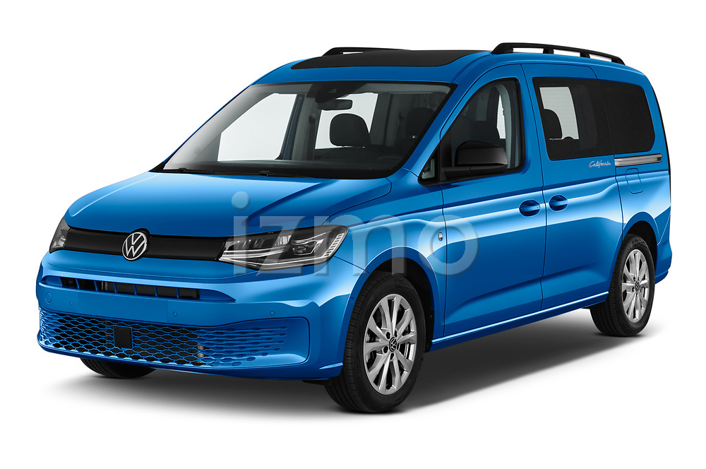 2021 Volkswagen Caddy California-Maxi 5 Door Camper Van Angular Front automotive stock photos of front three quarter view