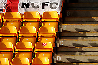 13th February 2021; Carrow Road, Norwich, Norfolk, England, English Football League Championship Football, Norwich versus Stoke City; Empty seats are seen in the stand