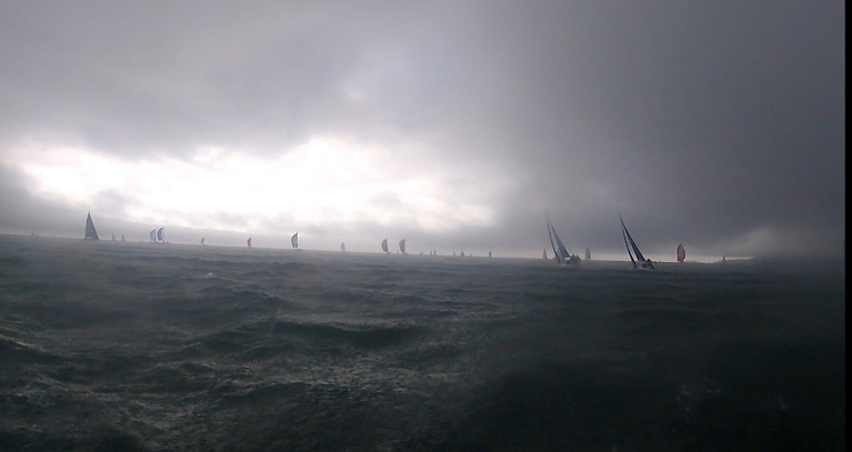 Saturday's, albeit brief, storm-style conditions for DBSC racing on Dublin Bay