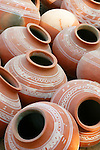 Pottery for sale at a market, Pushkar, Rajasthan, India