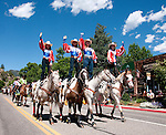 Rooftop Rodeo parade, Estes Park, Colorado, USA