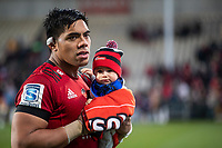 Michael Alaalatoa after the 2020 Super Rugby match between the Crusaders and Highlanders at Orangetheory Stadium in Christchurch, New Zealand on Saturday, 9 August 2020. Photo: Joe Johnson / lintottphoto.co.nz