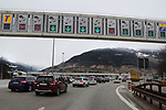 Coronavirus Outbreak - Italy is on Lockdown - Border with Austria - quarantine on 10/03/2020, Brennero, Brenner, Italy.  Since this morning Italy is in lockdown till 3rd of April 2020 in a bid to slow down the spread of coronavirus Covid-19. Germans leaving