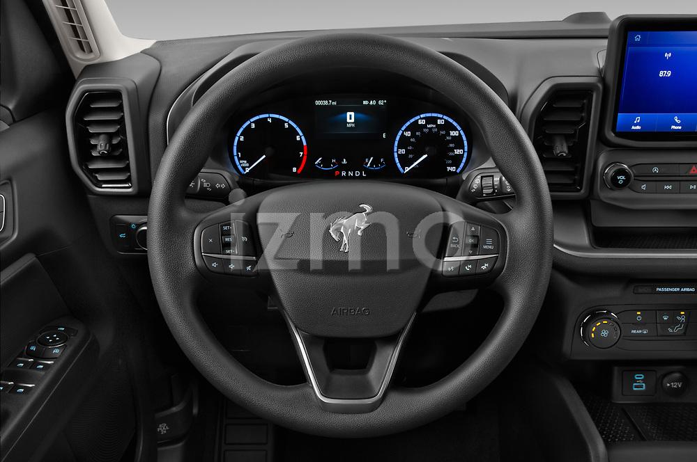 Car pictures of steering wheel view of a 2021 Ford Bronco-Sport Base 5 Door SUV Steering Wheel
