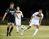 The Winthrop University Eagles beat the UNC Asheville Bulldogs 4-0 to clinch a spot in the Big South Championship tournament.  Achille Obougou (7), Jack Huber (17)