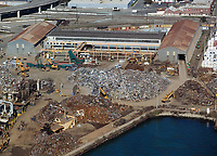 aerial photograph Schnitzer Steel, Port of Oakland, California