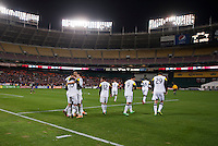 Washington, DC - March 8, 2014: The Columbus Crew defeated D.C. United 3-0 during their Major League Soccer (MLS) match at RFK Stadium.