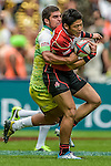 Japan vs Cook Islands during the Cathay Pacific / HSBC Hong Kong Sevens at the Hong Kong Stadium on 29 March 2014 in Hong Kong, China. Photo by Victor Fraile / Power Sport Images