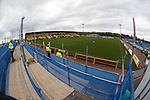 Scaffolding stands at Bayview ready for the Rangers fans