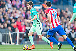 Sergi Roberto Carnicer of FC Barcelona in action during their La Liga match between Atletico de Madrid and FC Barcelona at the Santiago Bernabeu Stadium on 26 February 2017 in Madrid, Spain. Photo by Diego Gonzalez Souto / Power Sport Images