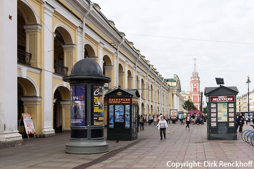 Kaufhaus Gostiny Dwor, Newski Prospekt 35, St. Petersburg, Russland, UNESCO-Weltkulturerbe