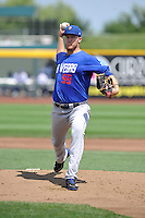 Noah Syndergaard #55 of the Las Vegas 51s throws against the Omaha Storm Chasers at Werner Park on August 17, 2014 in Omaha, Nebraska. The Storm Chasers  won 4-0.   (Dennis Hubbard/Four Seam Images)