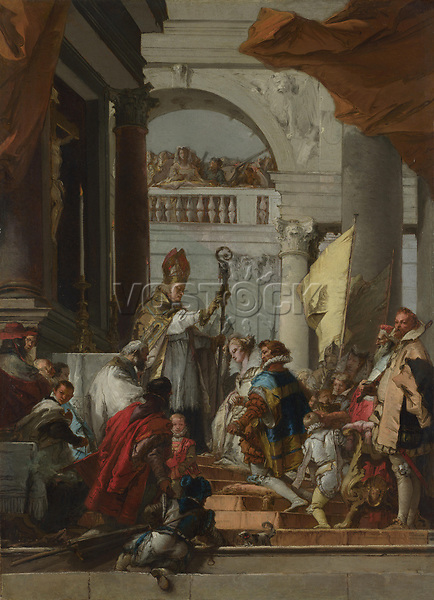 Full title: The Marriage of Frederick Barbarossa<br /> Artist: Giovanni Domenico Tiepolo<br /> Date made: about 1752-3