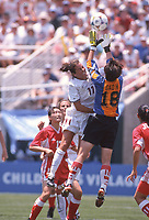 Julie Foudy<br /> 1999 Women's World Cup, Pasadena, California.