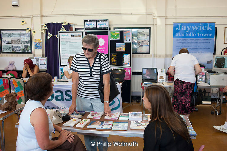 Community information event organised by Jaywick and Tudor Residents' Association.  Brooklands Estate in Jaywick, close to the Essex resort of Clacton-on-Sea, is the most deprived ward in the UK, according to the most recent Indices of Multiple Deprivation.