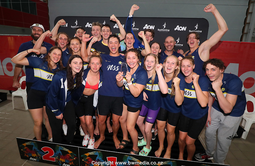 North Shore, overall club winners of Opens. Session 11 of the AON New Zealand Swimming Champs, National Aquatic Centre, Auckland, New Zealand. Saturday 10 April 2021 Photo: Simon Watts/www.bwmedia.co.nz