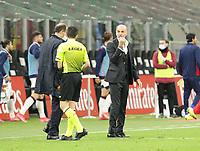 Milano 12-05 2021<br /> Stadio Giuseppe Meazza<br /> Serie A  Tim 2020/21<br /> Milan - Cagliari<br /> Nella foto: Stefano Pioli Allenatore Milan                                     <br /> Antonio Saia Kines Milano