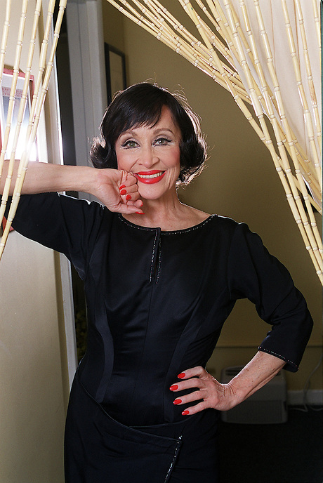 CHITA RIVERA in her dressing room between performances of NINE on a recent Wednesday...for FAST CHAT .....Eugene O'Neill Theatre, 230 W. 49 St., NYC.....Newsday/ARI MINTZ  5/28/2003.