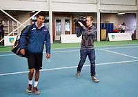 20-01-13, Tennis, Rotterdam, Wildcard for qualification ABNAMROWTT, Fabia van der lans komt de baan op.