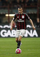 Calcio, Serie A: Milan vs Juventus. Milano, stadio San Siro, 9 aprile 2016. <br /> AC Milan's Luca Antonelli in action during the Italian Serie A football match between AC Milan and Juventus at Milan's San Siro stadium, 9 April 2016.<br /> UPDATE IMAGES PRESS/Isabella Bonotto