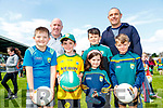 Jack O'Leary, Shane Kelly, Alex Kelly, Cliona Kelly, Kieran Fleming, Mike O'Leary and Derry Gorman, all from Kilcummin, Killarney, pictured at the Kerry Team Open Day Meet and Greet, at Fitzgerald Stadium, Killarney on Saturday last.