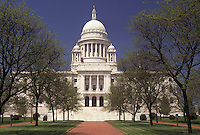 AJ3509, State House, State Capitol, Providence, Rhode Island, The State House in the capital city of Providence in the spring in the state of Rhode Island.