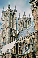 Lincoln Cathedral and sometimes St Mary's Cathedral in Lincoln, England is the seat of the Anglican Bishop of Lincoln. Construction commenced in 1072 and continued in several phases throughout the High Middle Ages. Gothic style