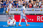 Krefeld, Germany, May 19: During the Final4 Gold Medal fieldhockey match between Uhlenhorst Muelheim and Mannheimer HC on May 19, 2019 at Gerd-Wellen Hockeyanlage in Krefeld, Germany. (worldsportpics Copyright Dirk Markgraf) *** +m8+