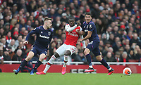 Arsenal's Nicolas Pepe gets in between West Ham United's Pablo Fornals and Jarrod Bowen<br /> <br /> Photographer Rob Newell/CameraSport<br /> <br /> The Premier League - Arsenal v West Ham United - Saturday 7th March 2020 - The Emirates Stadium - London<br /> <br /> World Copyright © 2020 CameraSport. All rights reserved. 43 Linden Ave. Countesthorpe. Leicester. England. LE8 5PG - Tel: +44 (0) 116 277 4147 - admin@camerasport.com - www.camerasport.com