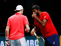 Rotterdam, The Netherlands, 15 Februari 2020, ABNAMRO World Tennis Tournament, Ahoy,<br /> Henri Kontinen (FIN) and Jan-Lennard Struff (GER), Rohan Bopanna (IND) and Denis Shapovalov (CAN).<br /> Photo: www.tennisimages.com